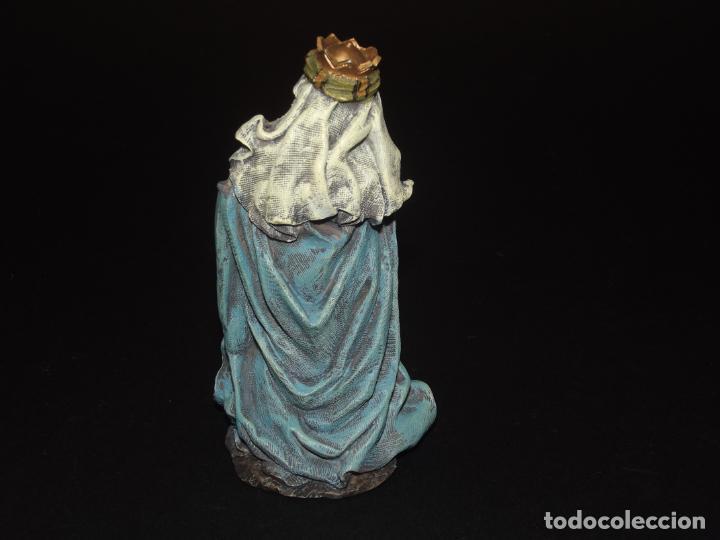 Figuras de Belén: 3 BONITOS REYES MAGOS PARA BELÉN - MARMOLINA - 12 CMS. LA MÁS ALTA - VER FOTOS ADICIONALES. - Foto 9 - 230893960