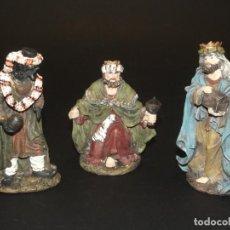 Figuras de Belén: 3 BONITOS REYES MAGOS PARA BELÉN - MARMOLINA - 12 CMS. LA MÁS ALTA - VER FOTOS ADICIONALES.. Lote 230893960
