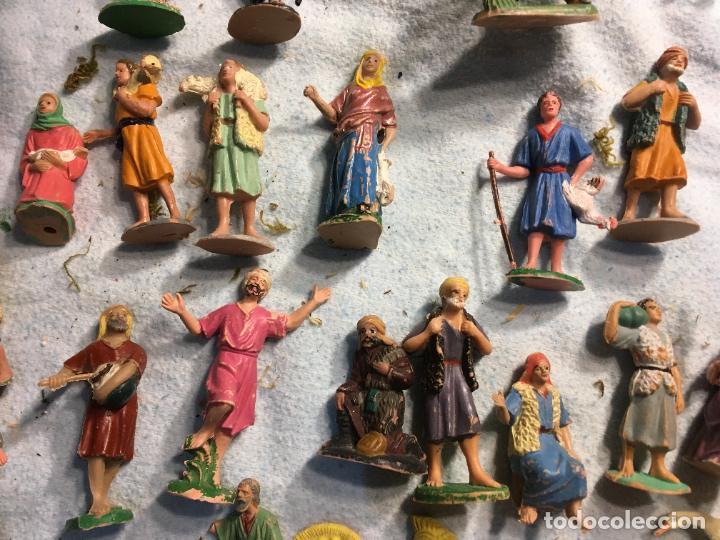 Figuras de Belén: Lote de 60 figuras de belén pesebre plástico años 70 imagino marca Reamsa, entre 6 y 7,5 cms. - Foto 8 - 231219665