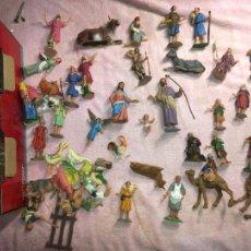 Figuras de Belén: LOTE DE 60 FIGURAS DE BELÉN PESEBRE PLÁSTICO AÑOS 70 IMAGINO MARCA REAMSA, ENTRE 6 Y 7,5 CMS.. Lote 231219665