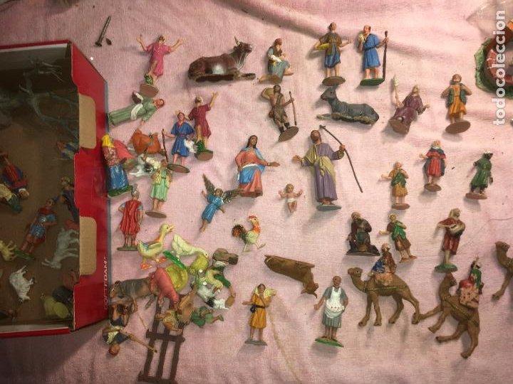 Figuras de Belén: Lote de 60 figuras de belén pesebre plástico años 70 imagino marca Reamsa, entre 6 y 7,5 cms. - Foto 11 - 231219665