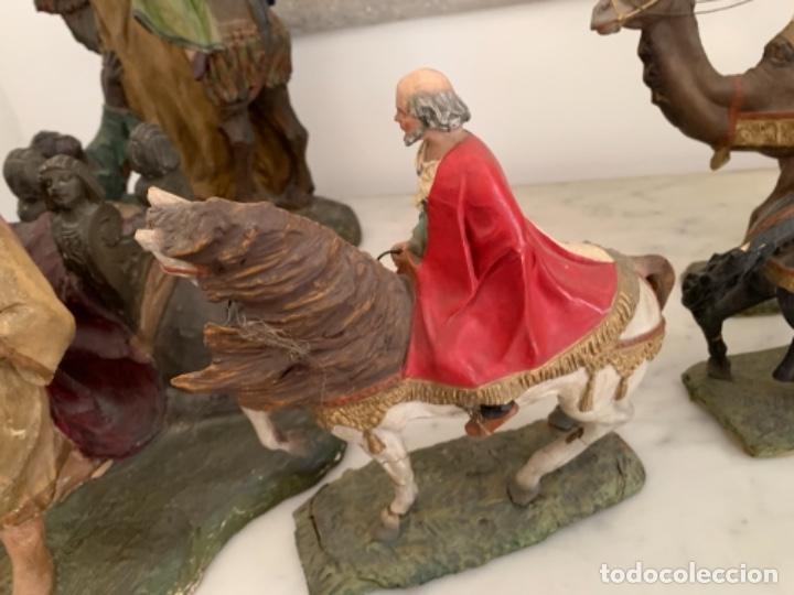 Figuras de Belén: Figuras pesebre Reyes Magos Terracota Olot 22 20 y 27 cm - Foto 5 - 234490990