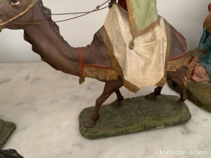 Figuras de Belén: Figuras pesebre Reyes Magos Terracota Olot 22 20 y 27 cm - Foto 8 - 234490990