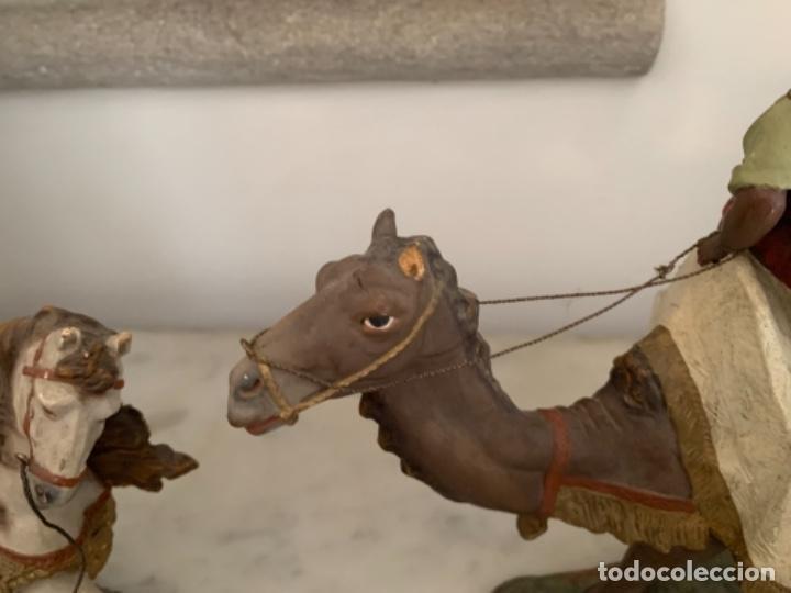 Figuras de Belén: Figuras pesebre Reyes Magos Terracota Olot 22 20 y 27 cm - Foto 9 - 234490990