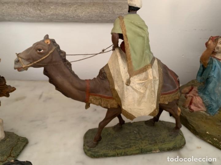 Figuras de Belén: Figuras pesebre Reyes Magos Terracota Olot 22 20 y 27 cm - Foto 10 - 234490990