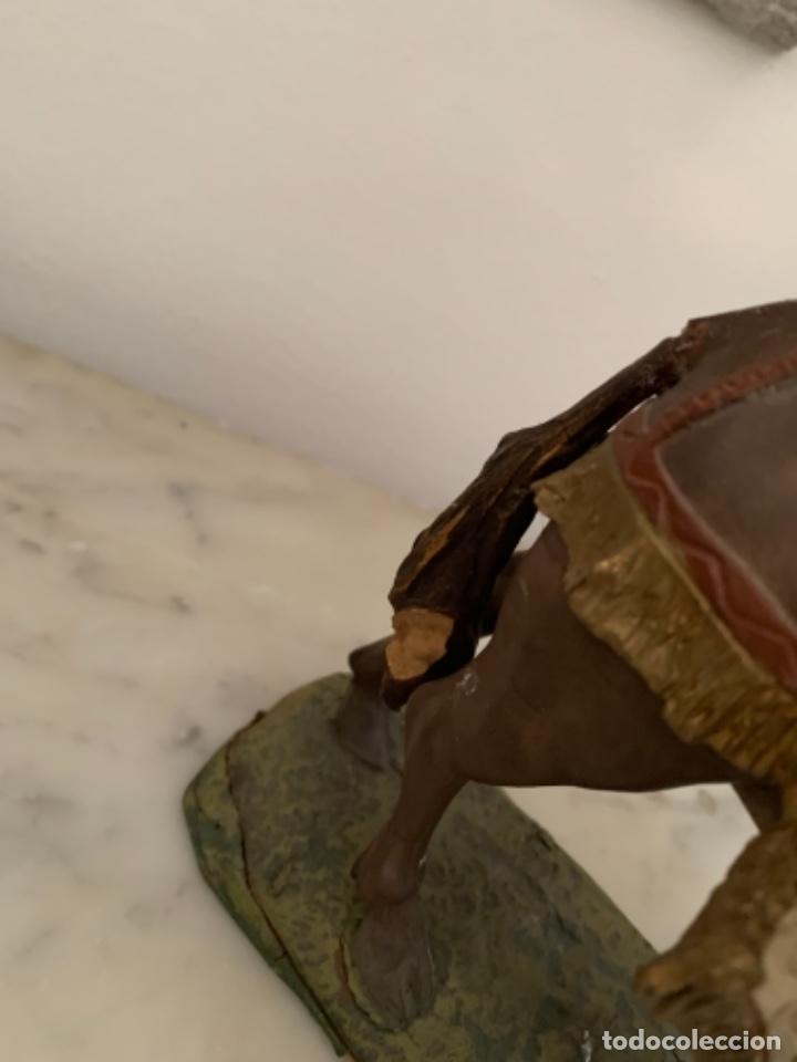 Figuras de Belén: Figuras pesebre Reyes Magos Terracota Olot 22 20 y 27 cm - Foto 11 - 234490990