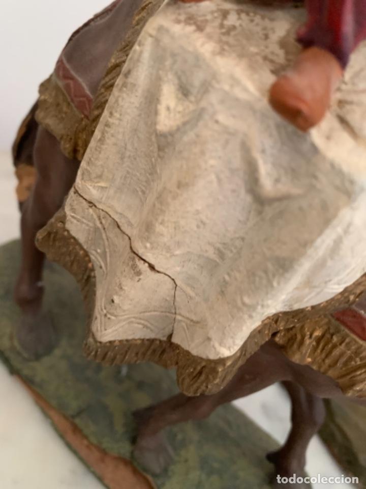 Figuras de Belén: Figuras pesebre Reyes Magos Terracota Olot 22 20 y 27 cm - Foto 12 - 234490990