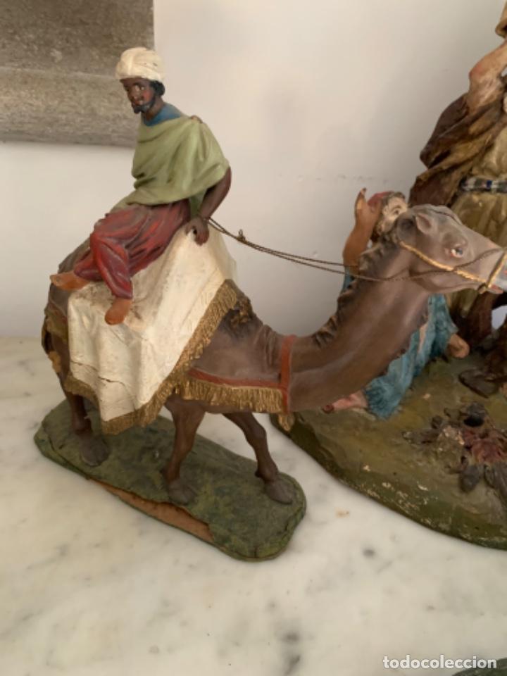 Figuras de Belén: Figuras pesebre Reyes Magos Terracota Olot 22 20 y 27 cm - Foto 13 - 234490990