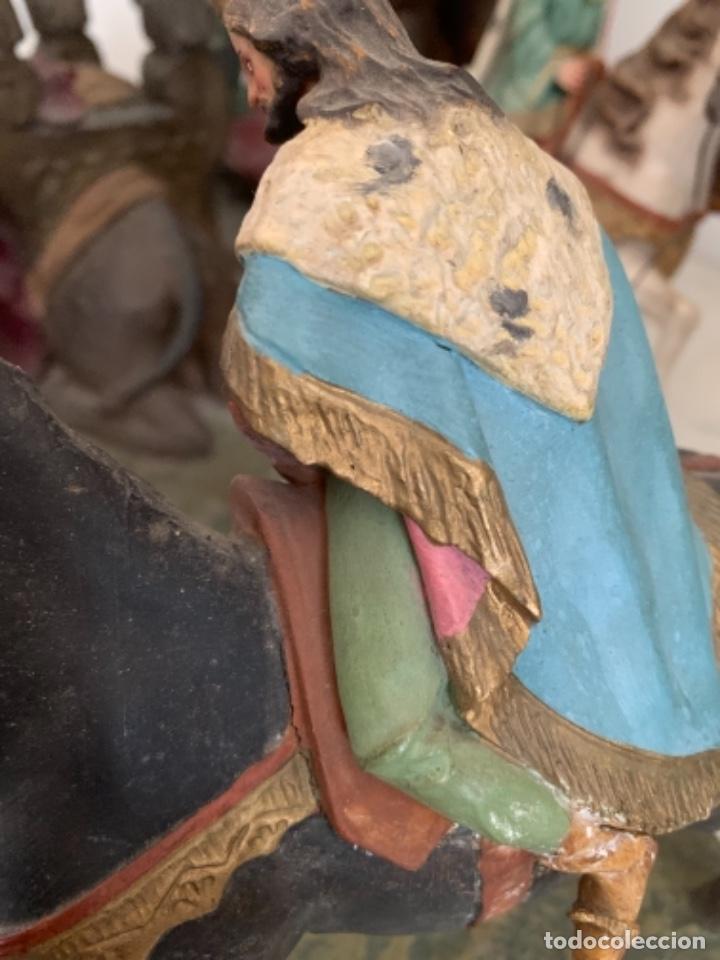 Figuras de Belén: Figuras pesebre Reyes Magos Terracota Olot 22 20 y 27 cm - Foto 15 - 234490990