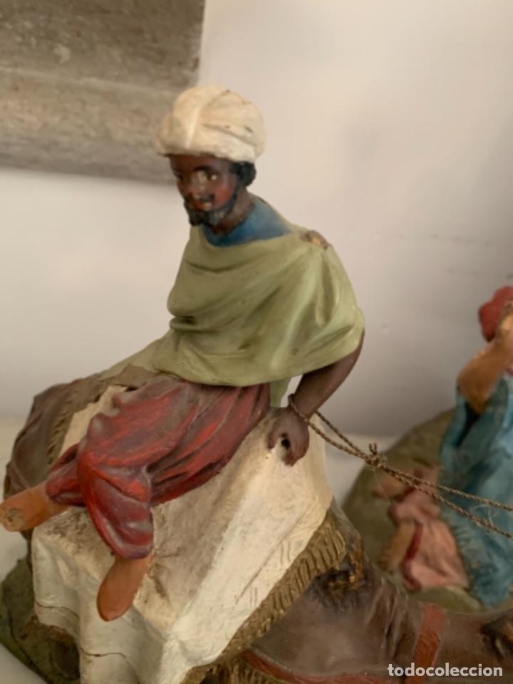 Figuras de Belén: Figuras pesebre Reyes Magos Terracota Olot 22 20 y 27 cm - Foto 17 - 234490990
