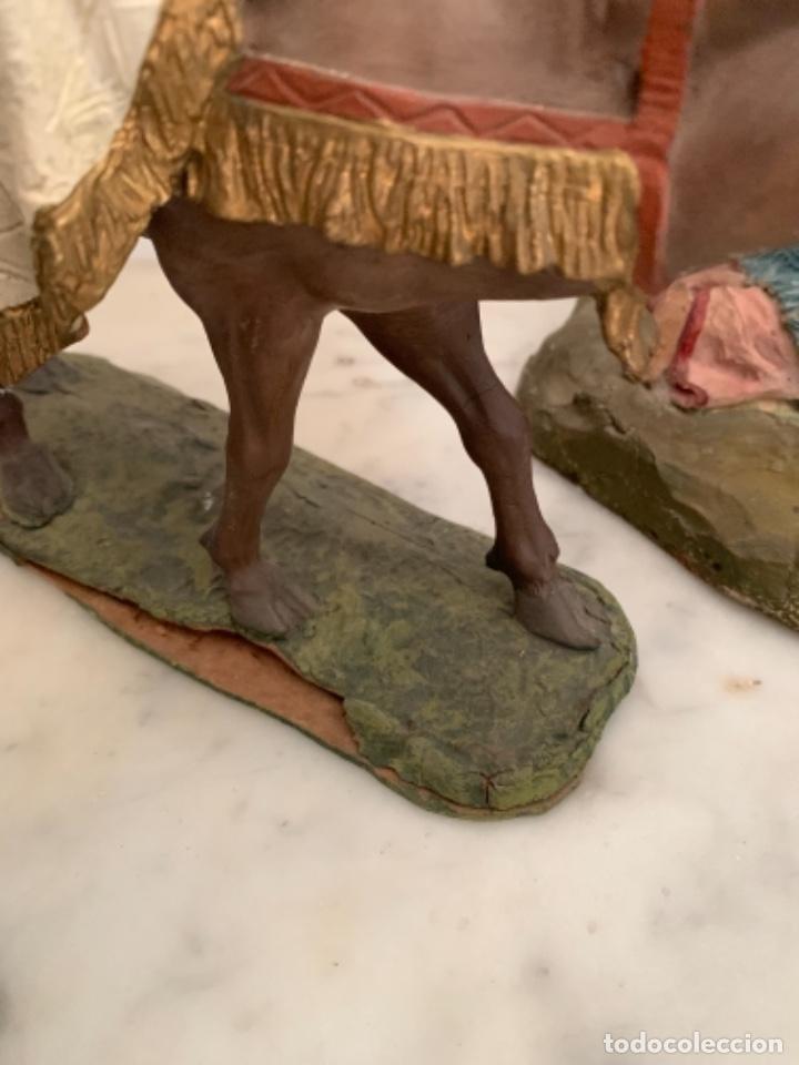 Figuras de Belén: Figuras pesebre Reyes Magos Terracota Olot 22 20 y 27 cm - Foto 19 - 234490990