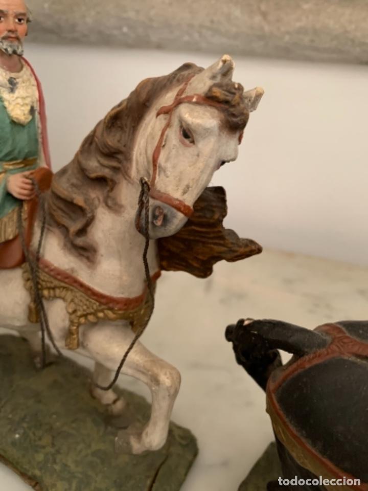 Figuras de Belén: Figuras pesebre Reyes Magos Terracota Olot 22 20 y 27 cm - Foto 23 - 234490990