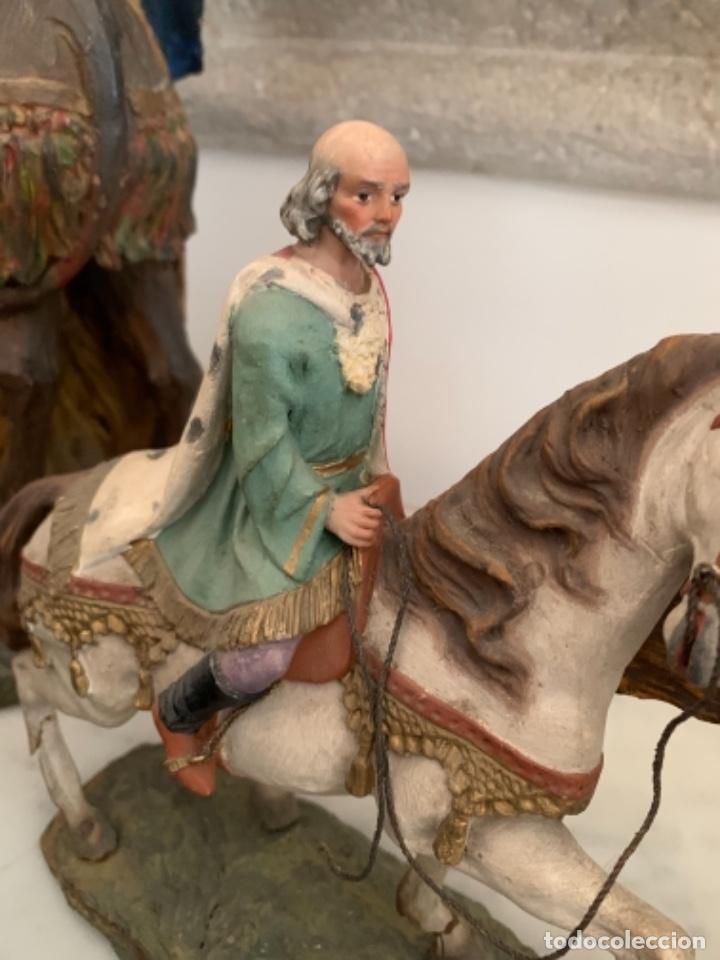Figuras de Belén: Figuras pesebre Reyes Magos Terracota Olot 22 20 y 27 cm - Foto 26 - 234490990