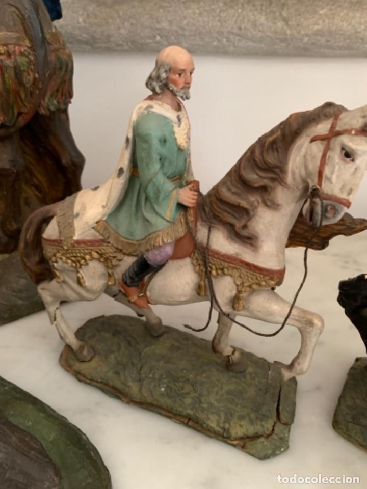 Figuras de Belén: Figuras pesebre Reyes Magos Terracota Olot 22 20 y 27 cm - Foto 28 - 234490990