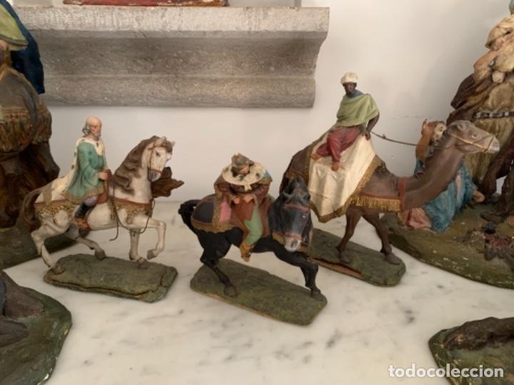 Figuras de Belén: Figuras pesebre Reyes Magos Terracota Olot 22 20 y 27 cm - Foto 29 - 234490990