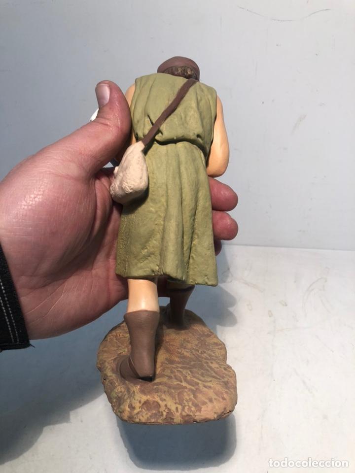 Figuras de Belén: FIGURA BELEN, PASTOR CON CORDERO EN BRAZOS. SERIE 20 ARTE CRISTIANO OLOT - Foto 6 - 234737890