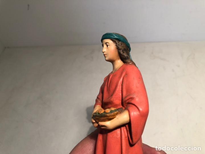 Figuras de Belén: FIGURA BELEN HEBREA CON CESTA, SERIE 15 ARTE CRISTIANO OLOT. - Foto 3 - 234828530