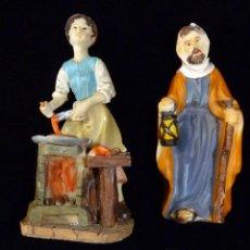 Figuras de Belén: LOTE DE 3 FIGURAS PARA BELÉN. RESINA - MARMOLINA. 11 CM. (3). Lote 235884265