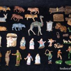 Figuras de Belén: LOTE DE FIGURAS Y ELEMENTOS PARA BELEN. PECH, OLIVER, FERRANDIZ. AÑOS 60-70. LEER (13). Lote 235885760