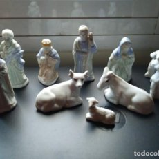 Figuras de Belén: 10 FIGURAS PORCELANA BELEN, SÓLO FALTA EL NIÑO JESÚS PARA ESTAR COMPLETO. Lote 236946630