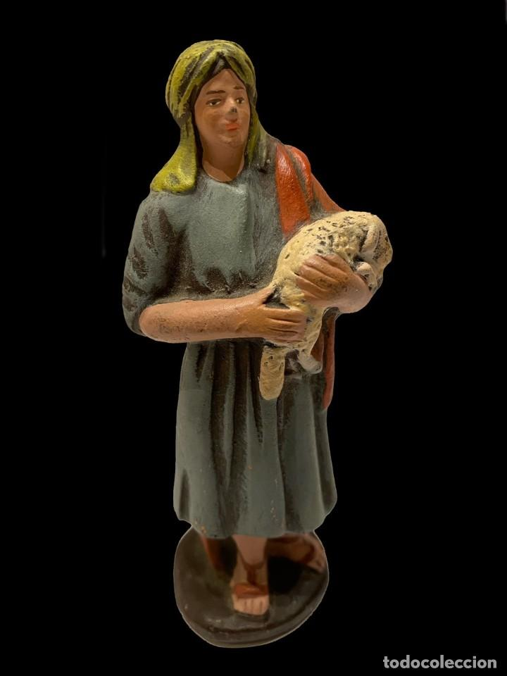 FIGURA DE BELÉN ANTIGUA ,PASTORA, MURCIA (Coleccionismo - Figuras de Belén)