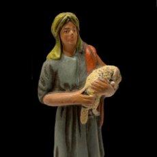 Figuras de Belén: FIGURA DE BELÉN ANTIGUA ,PASTORA, MURCIA. Lote 236990165