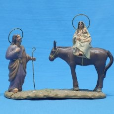 Statuine di Presepe: FIGURA DE BELÉN - HUIDA A EGIPTO - EN TERRACOTA BARRO MURCIANO. Lote 237822580