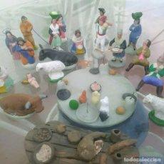 Statuine di Presepe: GRAN LOTE DE FIGURAS DE BELÉN ANTIGUAS.BARRO. Lote 244886910