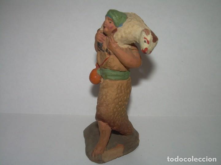 Figuras de Belén: ANTIGUA FIGURA DE TERRACOTA. - Foto 2 - 246660520