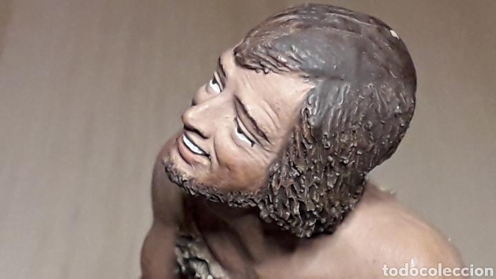 Figuras de Belén: Figura de Belén Pesebre, barro terracota, serie 17 cms. Daniel José Ursueguia. Sin firma. - Foto 3 - 252944310