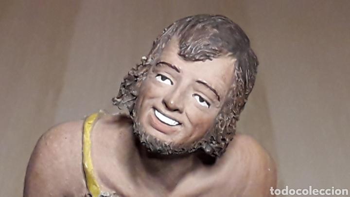 Figuras de Belén: Figura de Belén Pesebre, barro terracota, serie 17 cms. Daniel José Ursueguia. Sin firma. - Foto 4 - 252944310