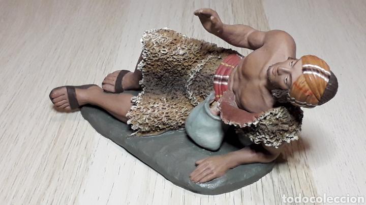 Figuras de Belén: Figura de Belén Pesebre, barro terracota, serie 17 cms. Daniel José Ursueguia. Sin firma. - Foto 7 - 252945955