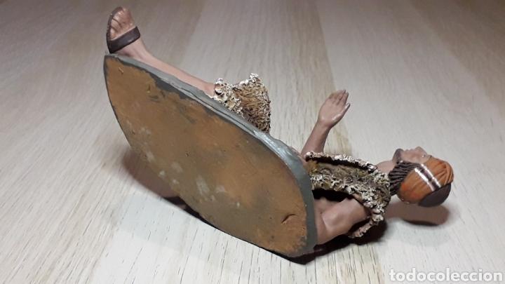 Figuras de Belén: Figura de Belén Pesebre, barro terracota, serie 17 cms. Daniel José Ursueguia. Sin firma. - Foto 9 - 252945955