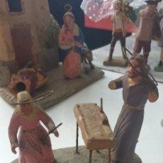 Figuras de Belén: FIGURA DE BELEN TERRACOTA ANTIGUA SAN JOSE CARPINTERO MARIA RESTAURAR. Lote 261993760