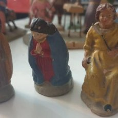 Figuras de Belén: LOTE 3 FIGURAS DE BELEN TERRACOTA ANTIGUAS 6 CMS. Lote 261994015