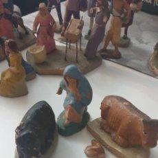 Figuras de Belén: LOTE DE 3 FIGURAS DE BELEN TERRACOTA ANTIGUAS. Lote 261994320