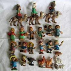 Figuras de Belén: CONJUNTO DE FIGURAS DE BELÉN DE PLASTICO. Lote 262595160