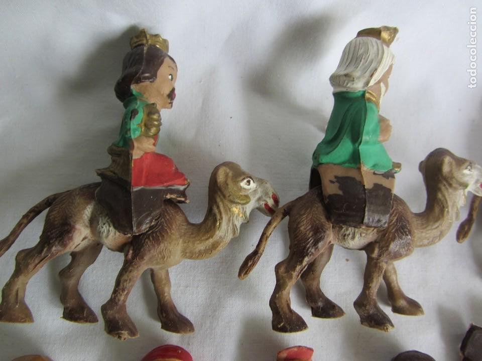 Figuras de Belén: Conjunto de figuras de belén de plastico - Foto 6 - 262595160