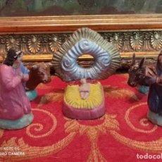 Figuras de Belén: FIGURA BELEN PESEBRE NACIMIENTO NAVIDAD BARRO TERRACOTA ANTIGUOS. Lote 264072900