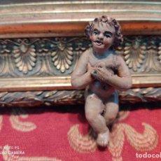 Figuras de Belén: FIGURA BELEN PESEBRE NACIMIENTO NAVIDAD BARRO TERRACOTA MUY ANTIGUOS. Lote 268960714