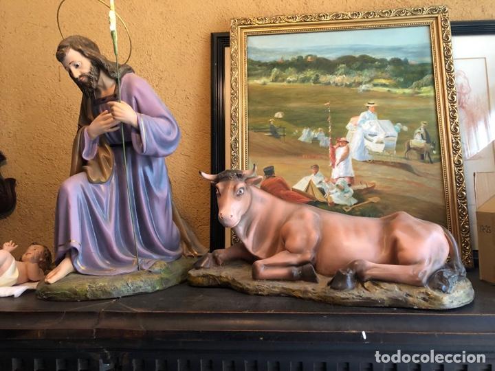Figuras de Belén: FIGURA BELEN, MISTERIO DE ESTUCO SERIE 60/70 OLOT. MUY GRANDE. - Foto 3 - 274582438