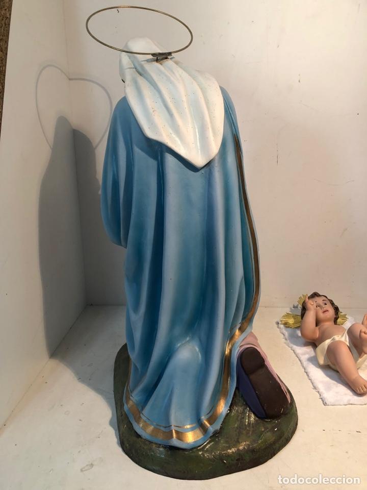 Figuras de Belén: FIGURA BELEN, MISTERIO DE ESTUCO SERIE 60/70 OLOT. MUY GRANDE. - Foto 12 - 274582438