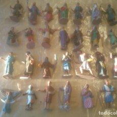 Figuras de Belén: BELEN ANTIGUAS FIGURAS. EN PLÁSTICO.. Lote 275341618
