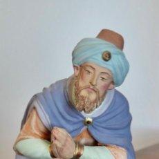 Figuras de Belén: ANTIGUA FIGURA BELEN O PESEBRE , EN BARRO O TERRACOTA , ARTESANAL - REY MAGO. POSIBLEMENTE CASTELLS. Lote 275524703