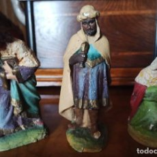 Figuras de Belén: REYES MAGOS ANTIGUOS. Lote 276084398