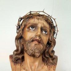Figuras de Belén: ANTIGUA ESCULTURA DE SANTO CRISTO DE LIMPIAS. ARTE OLOT.. Lote 276244828