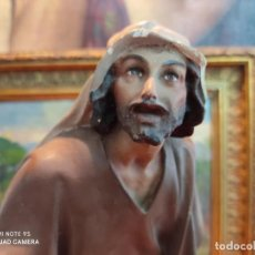 Figuras de Presépios: FIGURA OLOT BELEN PESEBRE NACIMIENTO ARTE CRISTIANO 30 CMS ALTO MUY ANTIGUA AÑOS 40. Lote 277023678