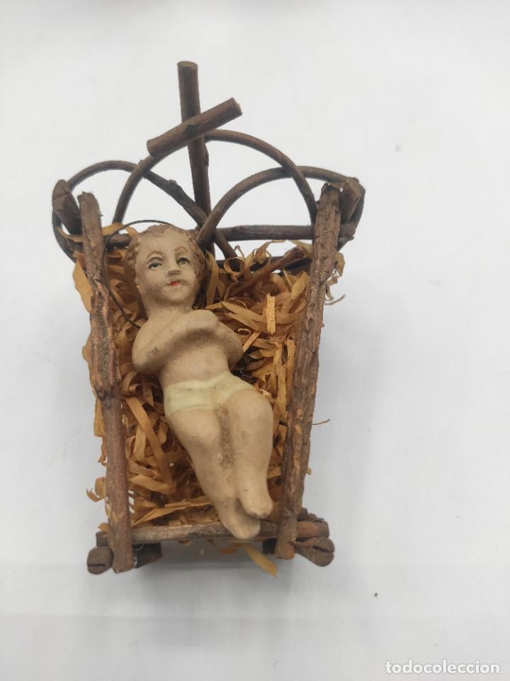 Figuras de Belén: Pesebre de arcilla policromada, del siglo XX. - Foto 2 - 277050893