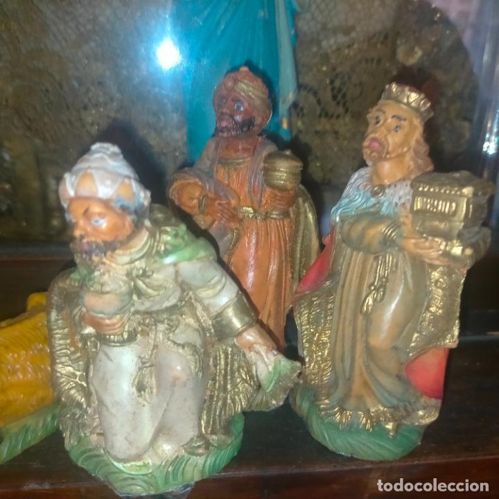 Figuras de Belén: figura portal de belen NACIMIENTO COMPLETO , REYES MAGOS, VIRGEN NIÑO JESUS SAN JOSE PLASTICO DURO - Foto 9 - 278608823