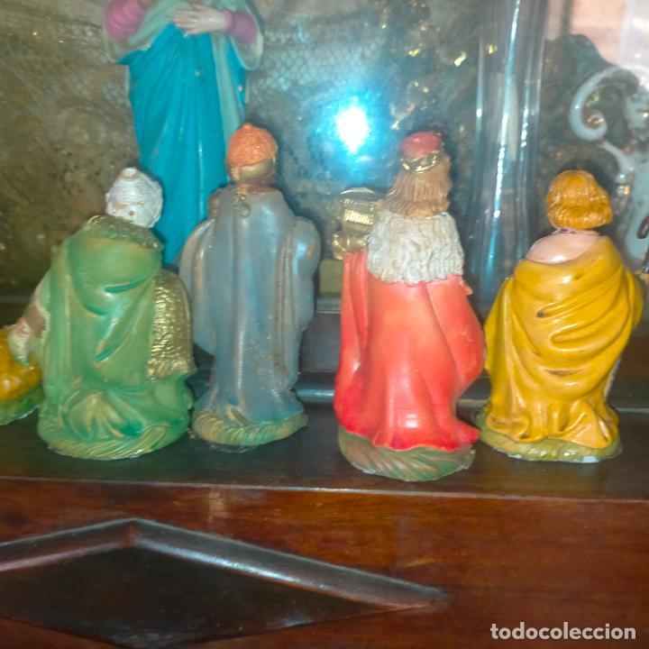 Figuras de Belén: figura portal de belen NACIMIENTO COMPLETO , REYES MAGOS, VIRGEN NIÑO JESUS SAN JOSE PLASTICO DURO - Foto 13 - 278608823